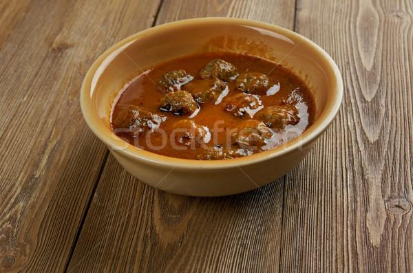 Köri hint mutfağı domates zencefil Stok fotoğraf © fanfo
