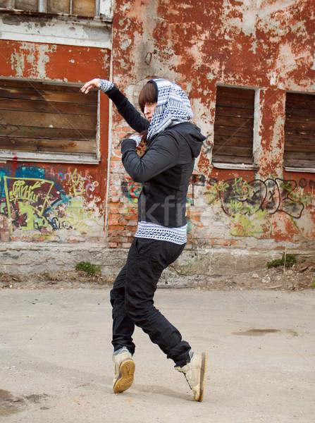 Hip hop vrouwelijke handelen stedelijke fitness Stockfoto © fanfo