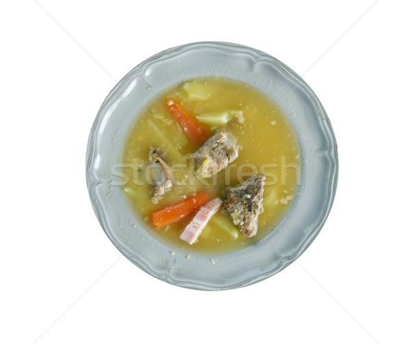 Norvég leves hagyományos étel citromsárga kultúra Stock fotó © fanfo