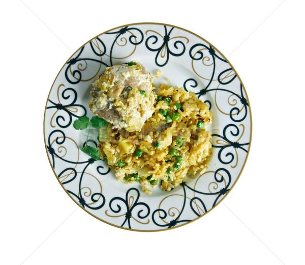 Indiano frango basmati arroz carne Ásia Foto stock © fanfo