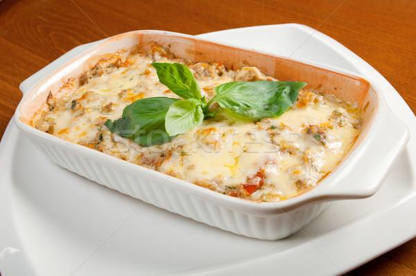 Лазанья говядины итальянская кухня ресторан сыра обеда Сток-фото © fanfo