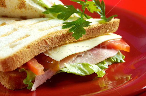 sandwiches with cheese and ham  Stock photo © fanfo