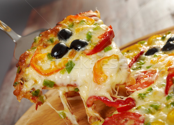 Photo stock: Tranche · fromages · maison · pizza · tomate