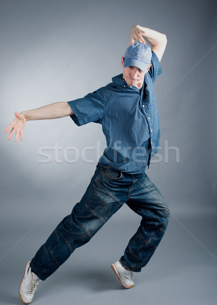 Style danseur posant cool regarder Photo stock © fanfo