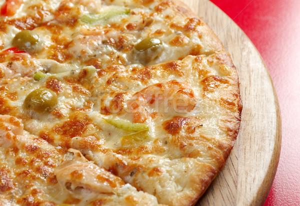 Pizza lazac olasz konyha stúdió étterem Stock fotó © fanfo