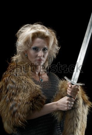Stock photo: 	Cimmerian.barbarian  Warrior