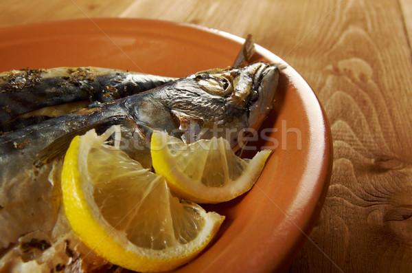 Mackerel on a grill. Stock photo © fanfo