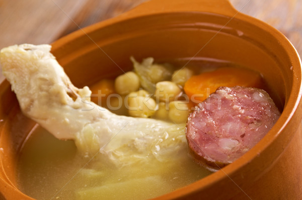 'Cocido ' Traditional dish in Spain Stock photo © fanfo
