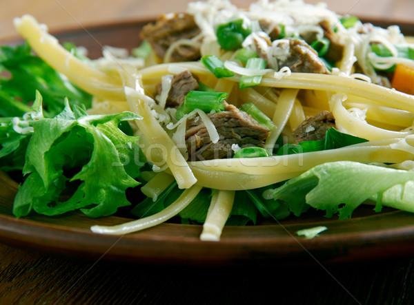 Salada macarrão estilo vermelho legumes Foto stock © fanfo