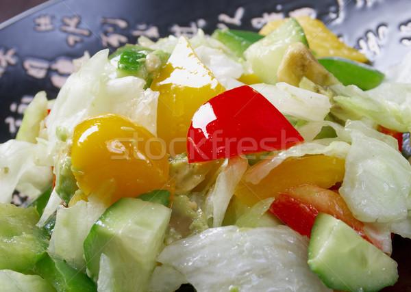 Япония Салат растительное овощей рыбы Сток-фото © fanfo
