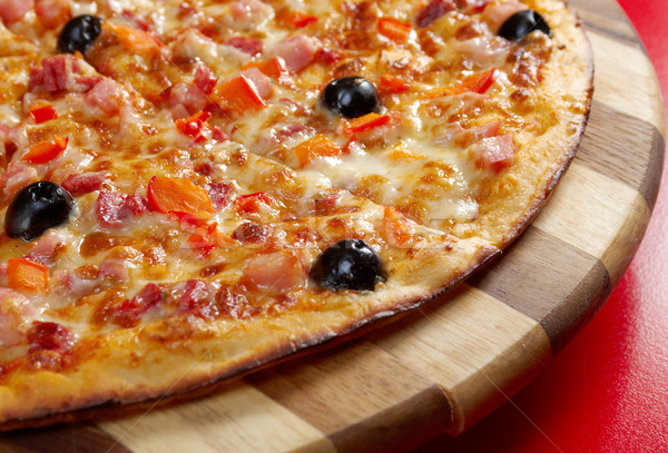 Pizza jambon italien cuisine studio restaurant Photo stock © fanfo