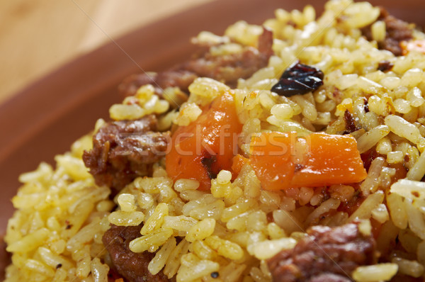 Traditional oriental pilaf Stock photo © fanfo