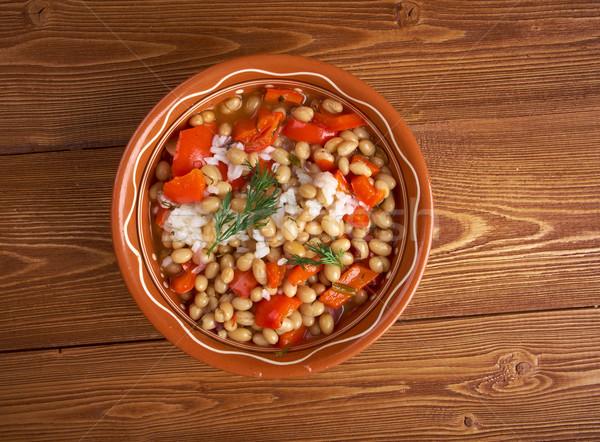 Stockfoto: Erwten · rijst · schotel · geserveerd · zuidelijk · Verenigde · Staten