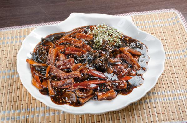 eggplants soya sauce Stock photo © fanfo