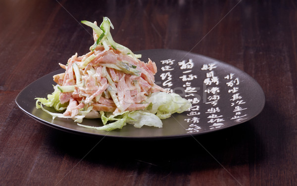 Japan salad with chicken and vegetables   Stock photo © fanfo