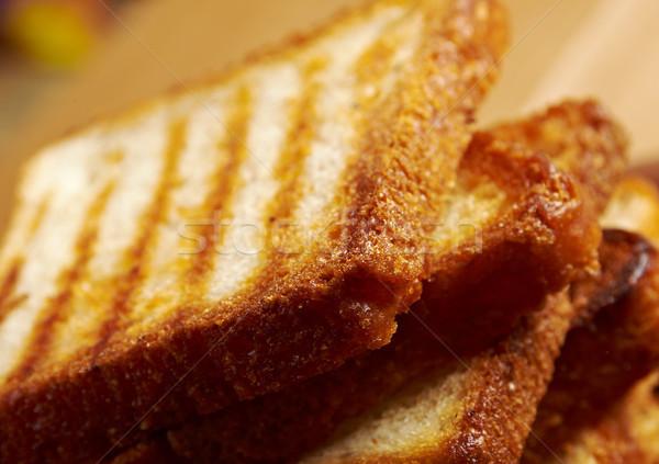 Köteg pirított kenyér szeletek felfelé fehér kenyér Stock fotó © fanfo