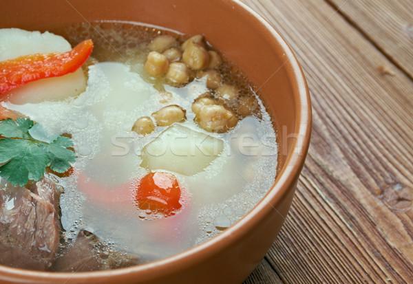 суп Кавказ центральный баранина овощей лист Сток-фото © fanfo