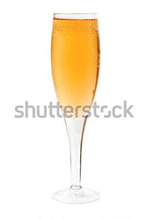 Stock fotó: Közelkép · buborékok · üveg · pezsgő · fehér · buli