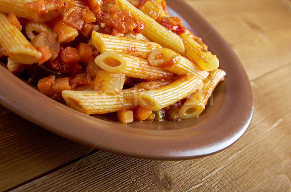 Italian Penne rigate pasta  Stock photo © fanfo