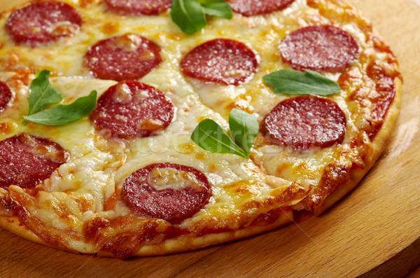 домашний пиццы сыра томатный обед быстро Сток-фото © fanfo