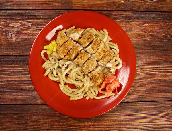 pork  and  soba with vegetable. Stock photo © fanfo