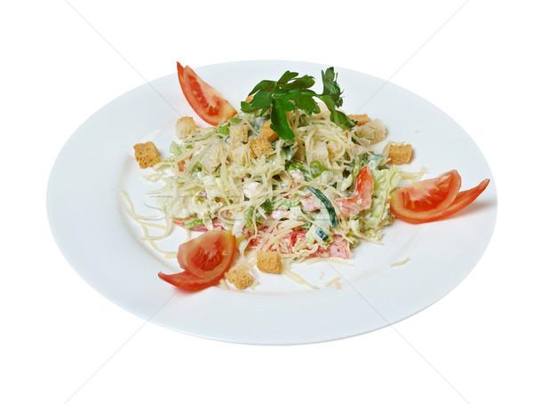 Caesar salad prepared  Stock photo © fanfo