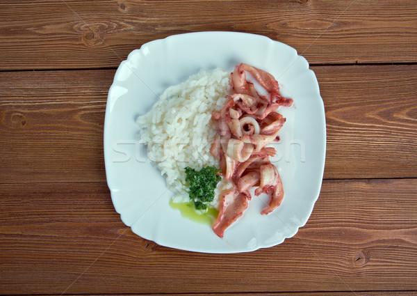 Arroz con calamares Stock photo © fanfo