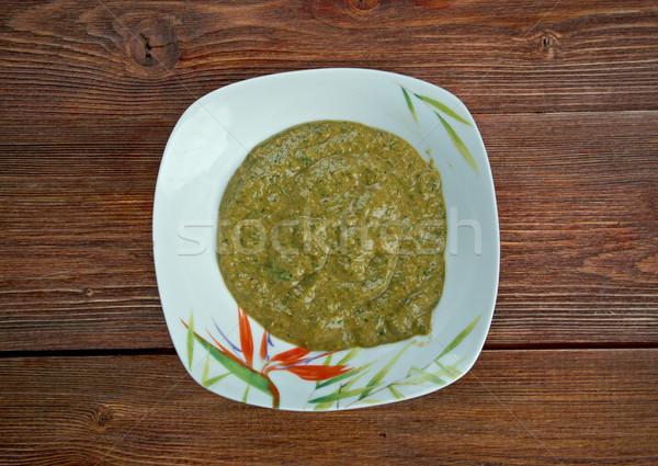 Saus afrikaanse hete saus voedsel Rood Stockfoto © fanfo
