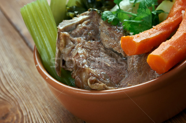 Francês carne guisada carne batata tigela carne Foto stock © fanfo