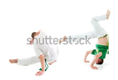 ストックフォト: 連絡 · スポーツ · カポエイラ · 男 · 訓練 · 戦う