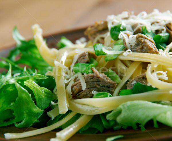 Ensalada pasta estilo rojo hortalizas Foto stock © fanfo