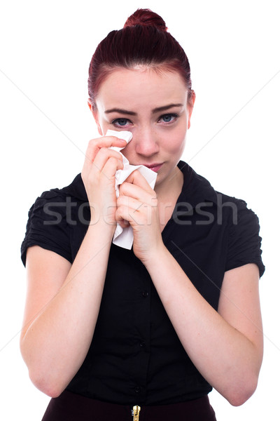 Crying woman with red hair Stock photo © fantasticrabbit