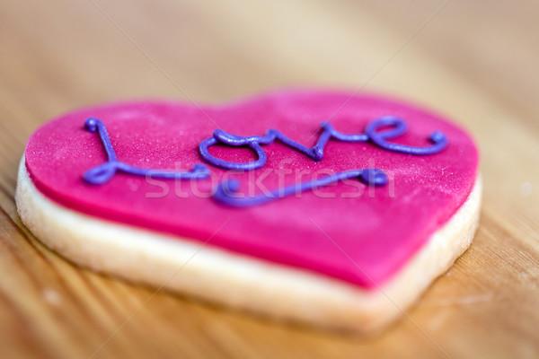 розовый сердце печенье Валентин декоративный Сток-фото © fantasticrabbit