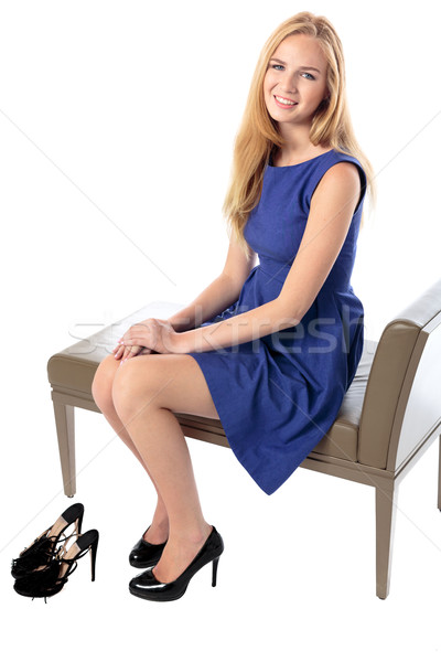 Fashionable graceful young woman Stock photo © fantasticrabbit