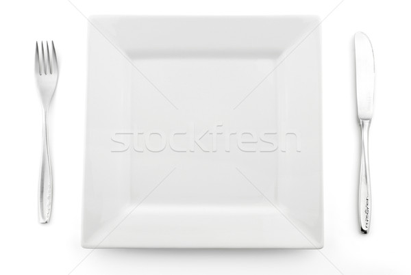 Square plate Stock photo © farres