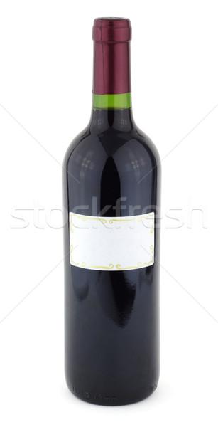 şişe beyaz etiket gıda şarap Stok fotoğraf © farres