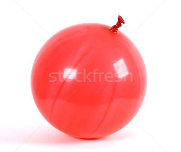 Rouge ballon premier plan anniversaire vacances Photo stock © farres
