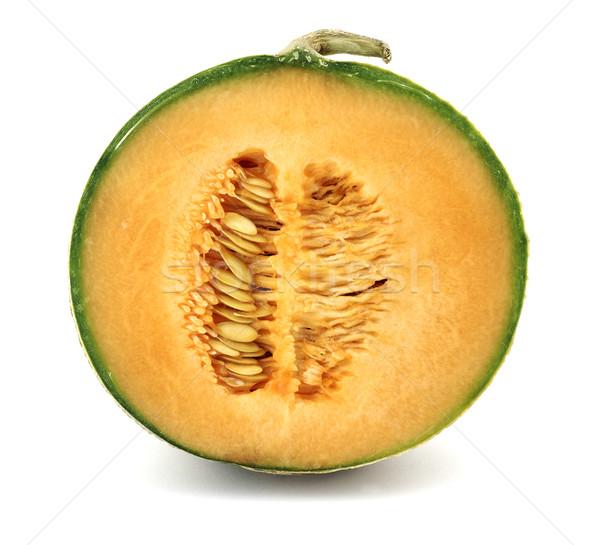 Melon coupé blanche alimentaire vert fraîches Photo stock © farres