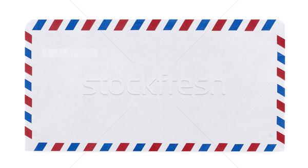 Havayolu zarf beyaz kâğıt posta iletişim Stok fotoğraf © farres