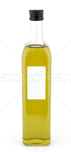 Yağ şişe etiket beyaz gıda zeytin Stok fotoğraf © farres