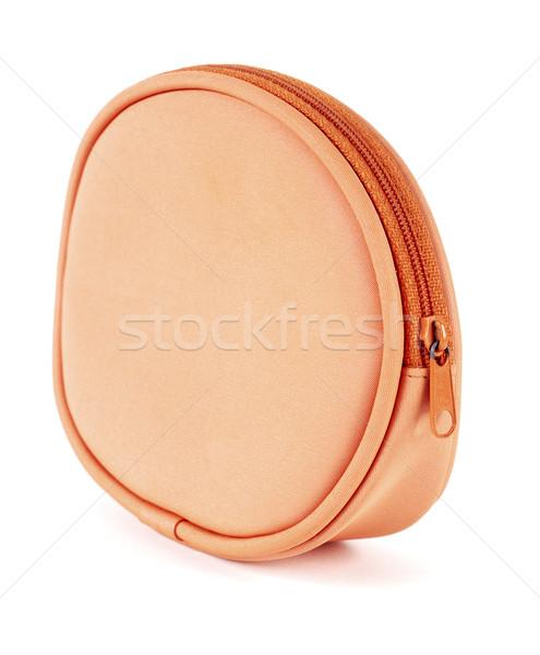 Orange bourse côté argent main blanche Photo stock © farres