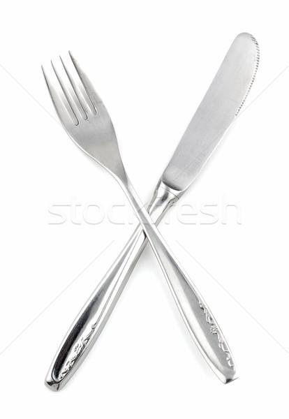 Fourche couteau menu restaurants croix Photo stock © farres