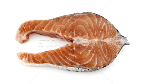 Somon mahkeme beyaz gıda yağ Stok fotoğraf © farres