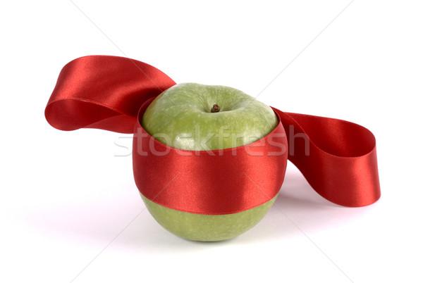 Ninja appel groene Rood lint Stockfoto © farres