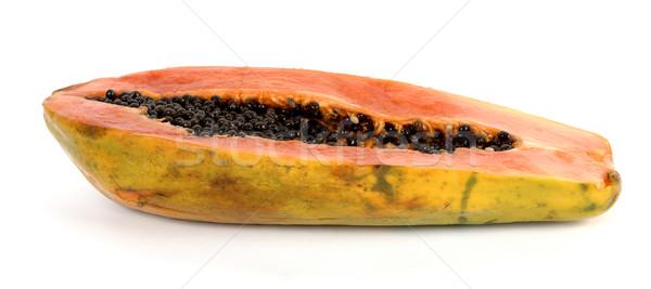 Kesmek görmek meyve sağlık beyaz tarım Stok fotoğraf © farres
