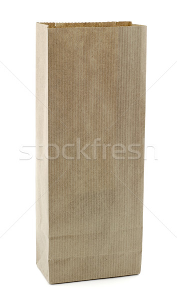 Rechteckige Papiertüte Tasche Papier Stock foto © farres