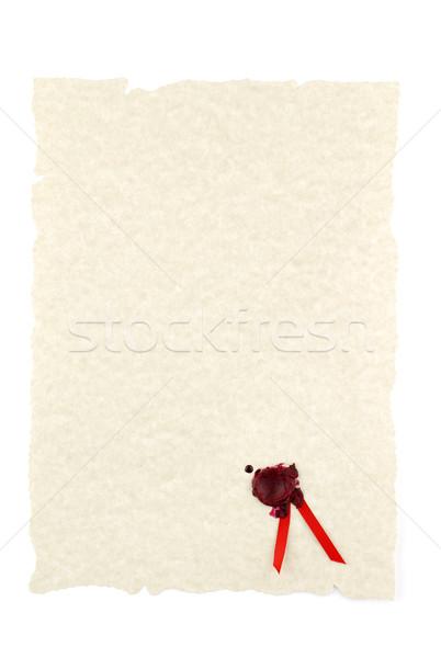 Parchemin sceau texture tampon ruban Photo stock © farres