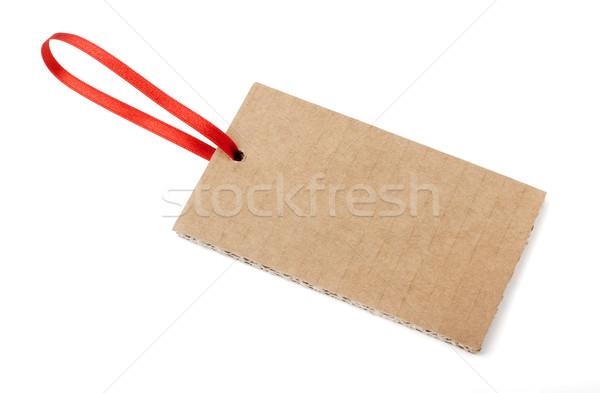 Etiket şerit etiket karton beyaz Stok fotoğraf © farres