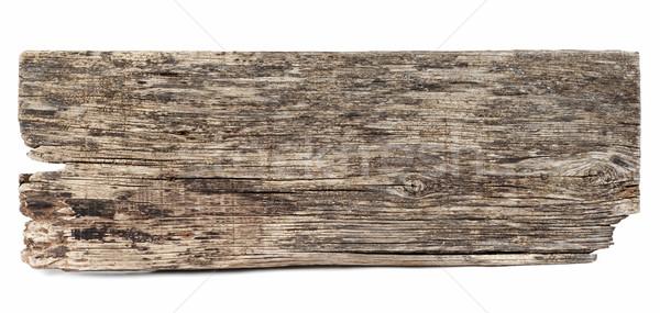 Vieux rectangulaire bois pièce bois fissuré Photo stock © farres