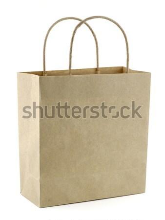 çanta geri dönüşümlü kâğıt pazar hediye Stok fotoğraf © farres